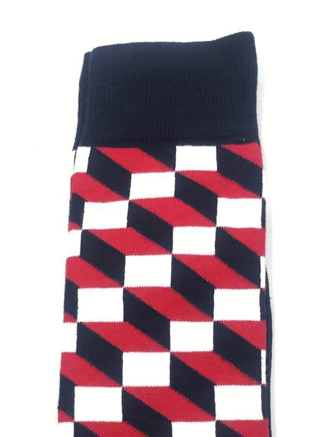 Ανδρική Βαμβακερή Κάλτσα Με Σχέδιο