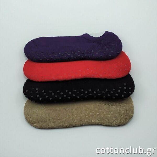 Γυναικεία Αντιολισθητική Κάλτσα Μονόχρωμη Σοσόνι Ιδανική για Υoga